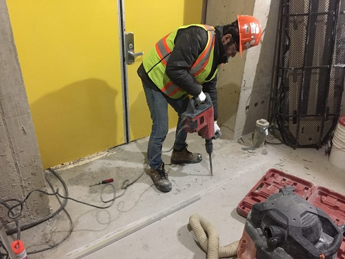 Injection of modified cementitious grout ,emergency satires safety nosing installation, joint sealant installation, crack repairs, vertical over head repairs,concrete leveling, re-slopping and etc.