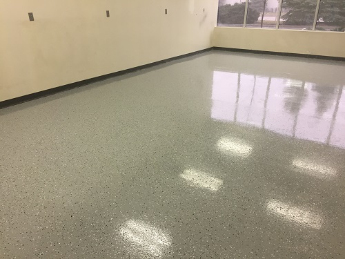 Floor Removal - Epoxy Flake System